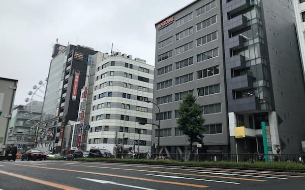名古屋市にあるカゴメ本社(右から2つめのビル)