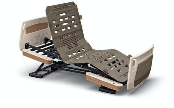 パラマウントベッドの「楽匠プラスシリーズ」。特許出願中の技術を搭載した