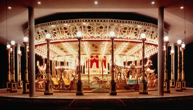 としまえんの回転木馬「カルーセルエルドラド」は100年以上前に製造された。