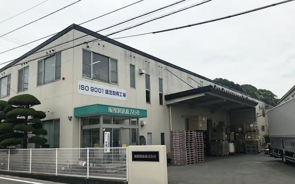 新工場建設に着手する服部製紙(四国中央市内の本社)