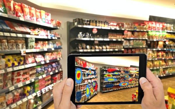 AIを活用した画像認識技術で店舗の在庫管理などを行う(Trax提供)