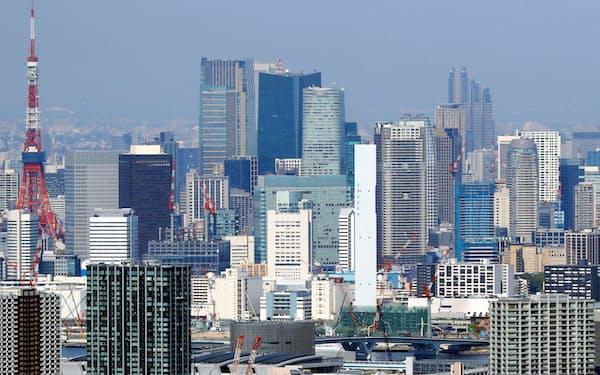 東京都心のオフィスビル群