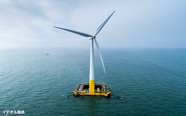仏イデオルが設計に関わったフランスの浮体式洋上風力発電