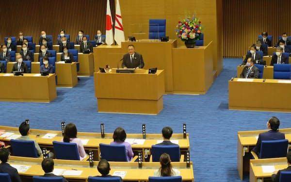 JOCの山下泰裕会長が講演した(23日、横浜市)