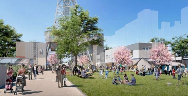 名古屋市の久屋大通公園内で2020年秋のオープンを予定する(イメージ図)