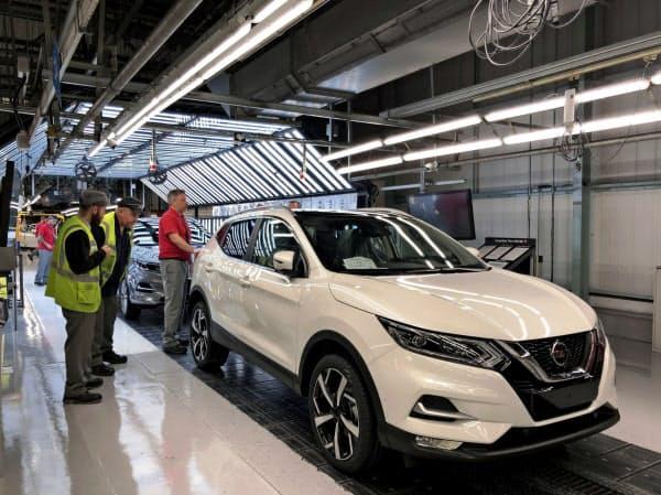 日産自動車の英サンダーランド工場で生産されるSUV「キャシュカイ」(2019年10月、英北部)