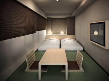 ホテル縁道は和のテイストの客室も設ける