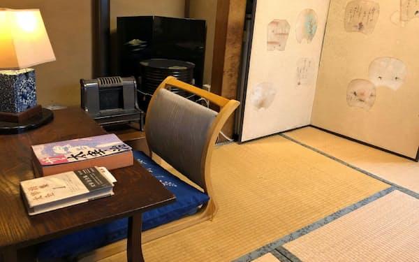 太宰治が執筆のため滞在したという「桔梗の間」は一般客も宿泊できた(千葉県船橋市)