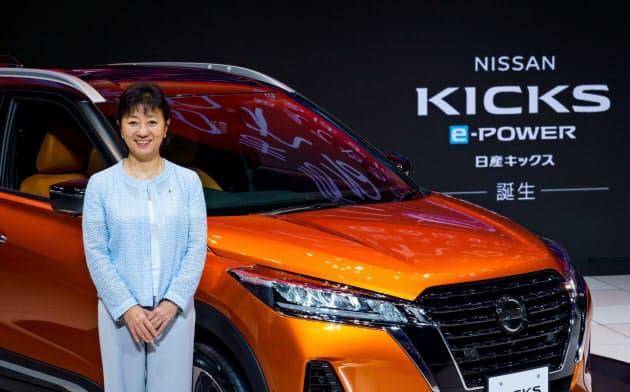 星野副社長はキックスが日産の主力車になると自信を示した