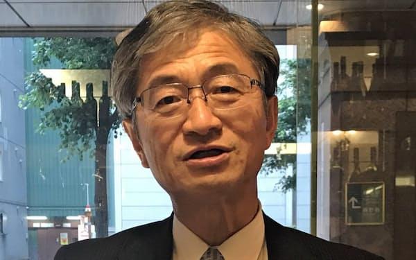 JR貨物の真貝社長は鉄道貨物のトラックに対する優位性について北海道と全国が青函トンネルでつながっていることを挙げた(札幌市)