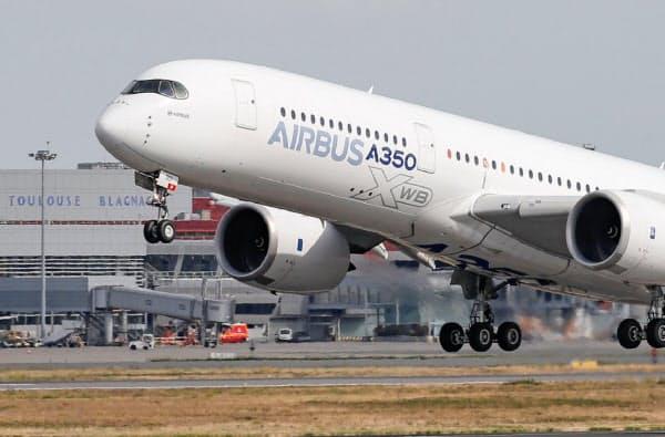 米欧は互いの航空機補助金を巡って15年以上紛争を続けている(写真はエアバス機、2019年9月)=ロイター