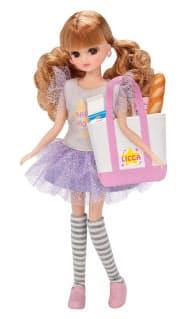 タカラトミーが発売した人形セット「LD―14 ハッピーショッピング」。エコバッグを付属品にした((C) TOMY)