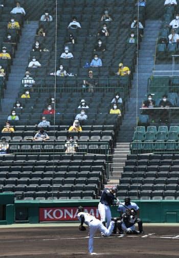 観客が音を出せないので、球音や選手の声はよく響く