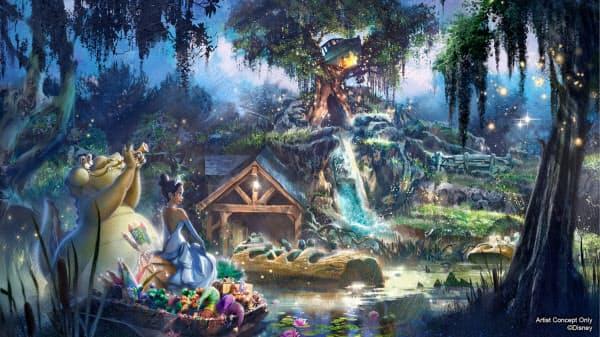 ディズニーは「スプラッシュ・マウンテン」のモデルとする映画を変更する。写真はイメージ図=ディズニー提供