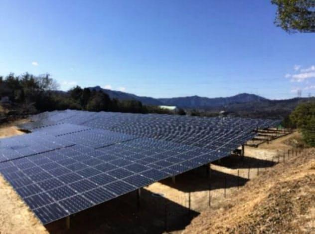 中部大の恵那キャンパスに建設した太陽光発電施設