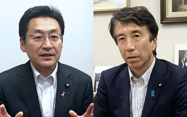 斎藤健氏(右)と礒崎哲史氏