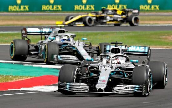 レッドブルは6月25日に英シルバーストーン・サーキットでテスト走行。準備が着々と進む(2019年の英国GP)=ロイター