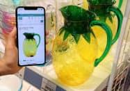顧客は買いたい商品の画像を入力すれば瞬時に在庫状況を検索できる(東京・北のニトリ赤羽店)