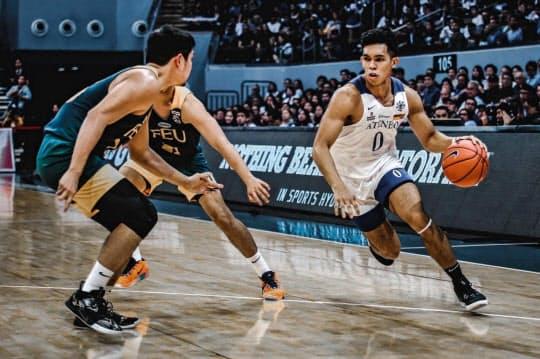 アジア枠第1号で三遠に入団したフィリピンのサーディ・ラベナ(右)。同国のアテネオ・デ・マニラ大学でチームを3年続けて国内チャンピオンに導いた(本人提供)
