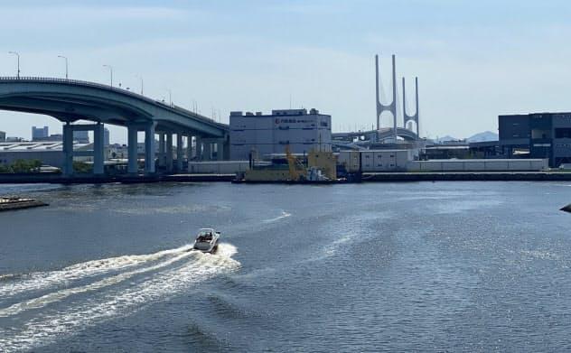 食品工場や住宅がある神戸港埋め立て地は1970年の大阪万博の会場候補だった