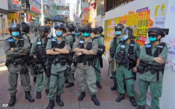 中国は香港への統制を強めている=AP