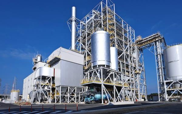 イーレックスが運営する福岡県豊前市の豊前バイオマス発電所