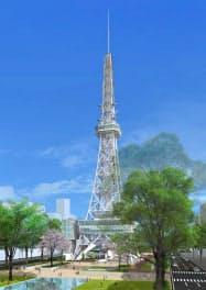 名古屋テレビ塔の完成イメージ