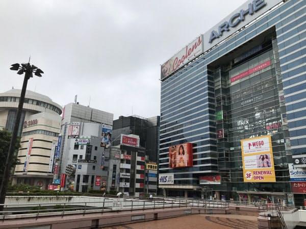 埼玉県の最高路線価地点である大宮駅西口駅前(さいたま市大宮区)
