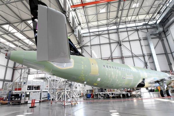 エアバスはドイツなどで人員削減する(同社独工場)=ロイター