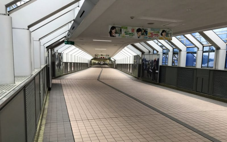 5月31日の日本ダービー当日も東京競馬場西側連絡通路は無人だった