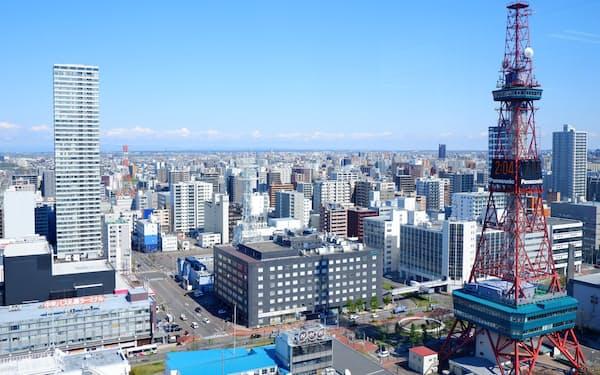 三鬼商事の調査によると、札幌市内のオフィス賃料は上昇傾向で、4月には仙台を上回った
