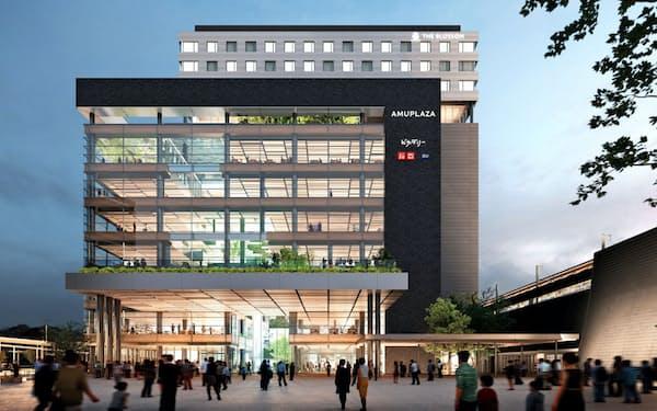 熊本駅ビルは21年春開業予定(イメージ)