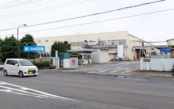 サンデンHDの事業再生ADR申請が地域経済に及ぼす影響を懸念する声も(群馬県伊勢崎市、サンデンの工場)