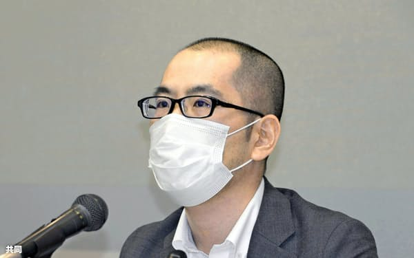 ゲーム条例の廃止を求める声明を発表した香川県弁護士会の徳田陽一会長(5月25日、高松市)