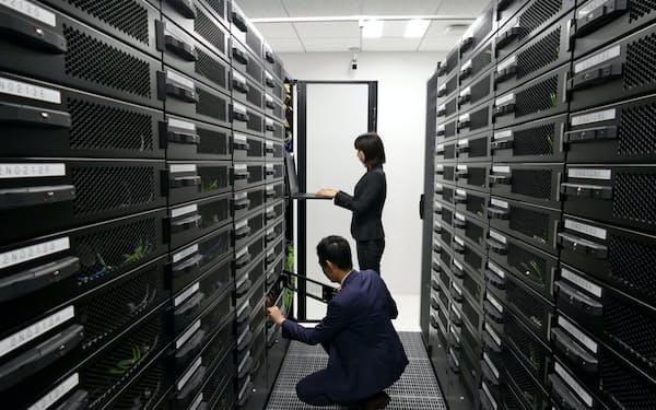 オービックはERPのクラウドサービスが好調(同社のデータセンター、都内)