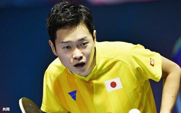 東京パラリンピックの卓球代表に内定した岩渕幸洋(2018年10月、ジャカルタ)=共同
