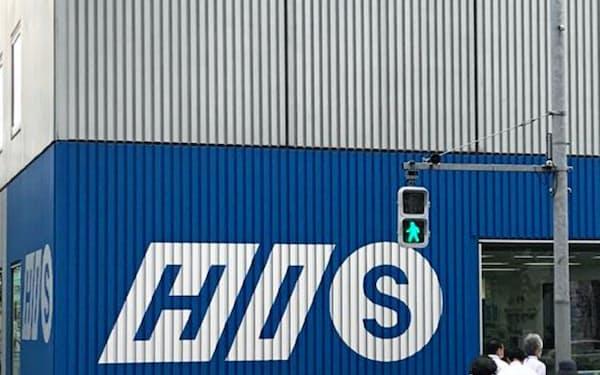エイチ・アイ・エスの店舗(1日、東京都渋谷区)