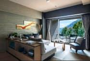 すべての客室から箱根の自然が見渡せる(イメージ)