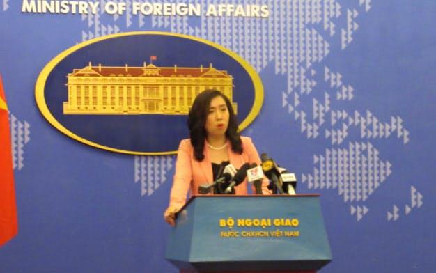 ベトナム外務省のレ・ティ・トゥ・ハン報道官(2日、ハノイ)