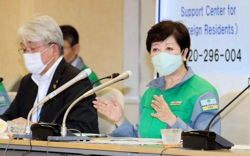 東京都、2カ月ぶり100人超感染 知事「警戒要する」