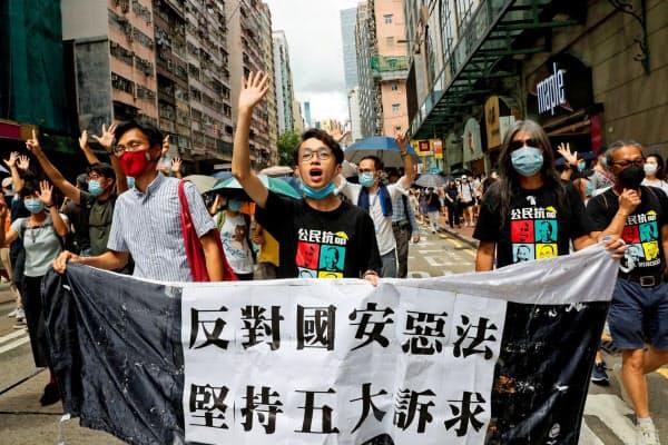 香港に認められてきた高度な自治は揺らいでいる=ロイター