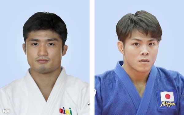 男子66キロ級は丸山城志郎と阿部一二三の新旧世界王者による激しい争いに注目が集まる=共同