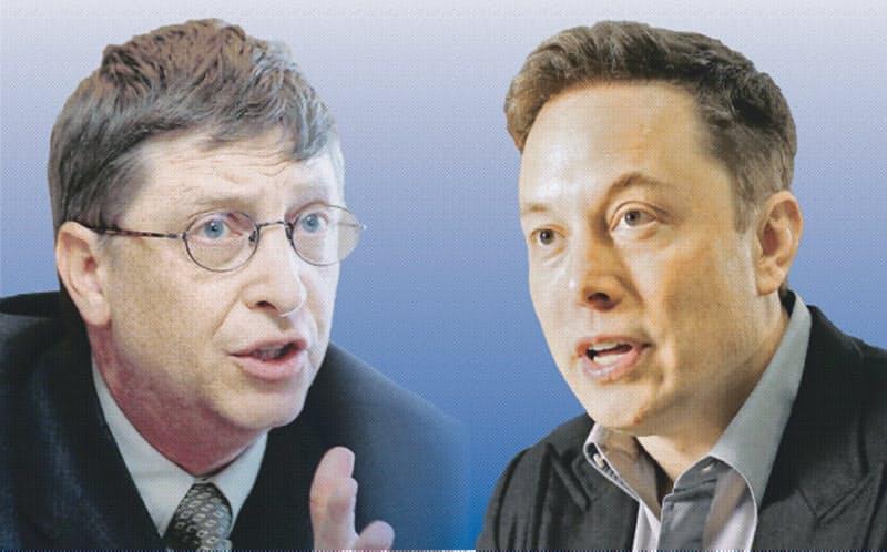 ゲイツ氏やマスク氏の能力は株価に反映されている