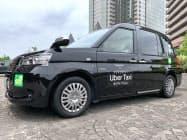 ウーバー・ジャパンが東京でのタクシー配車サービスを開始した(3日、東京都渋谷区)