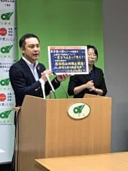鈴木知事は慎重な行動を呼びかけた(3日、三重県庁)