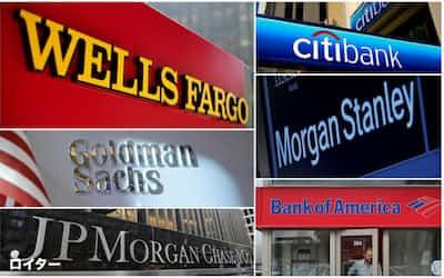 米銀大手はFRBから自社株買いと増配の停止を求められた=ロイター