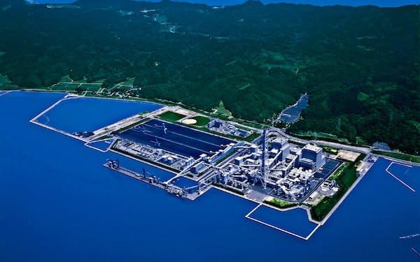 石炭火力が2基ある七尾大田火力発電所(石川県七尾市)