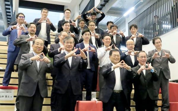 産学官が連携し、担当相にアピールした(3日、名古屋大学)