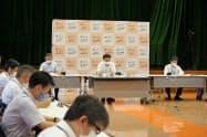 歌舞伎町などの繁華街への夜の外出をできるだけ控えるよう要請することを決めた島根県の対策本部会議