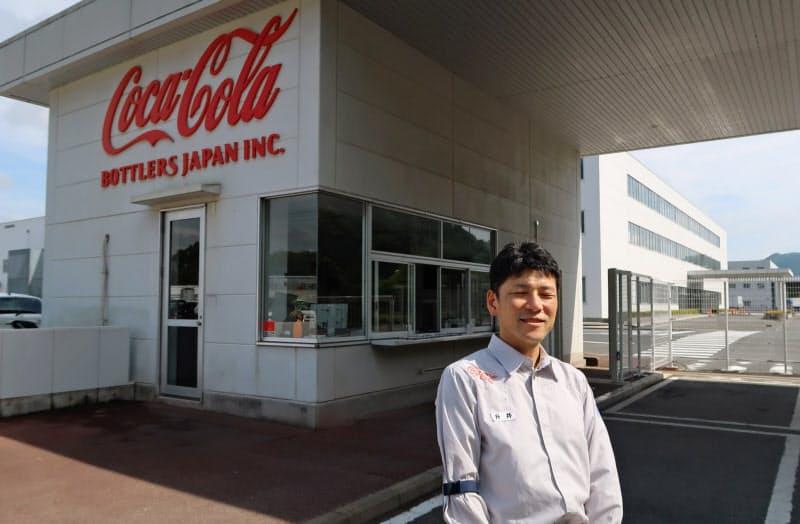 コカ・コーラ広島工場と升井工場長